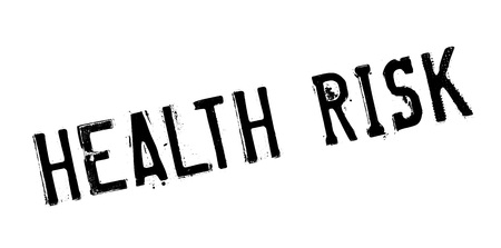 salubrity: Health Risk rubber stamp Illustration