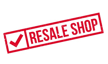 resale: Resale Shop rubber stamp Stock Photo