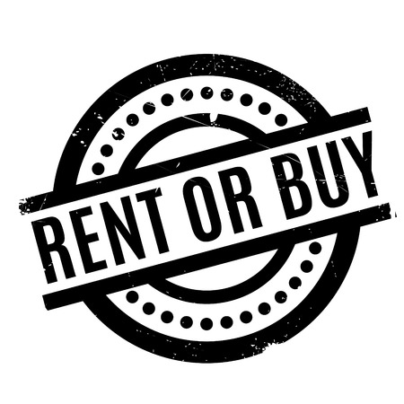 Rent Or Buy rubber stamp