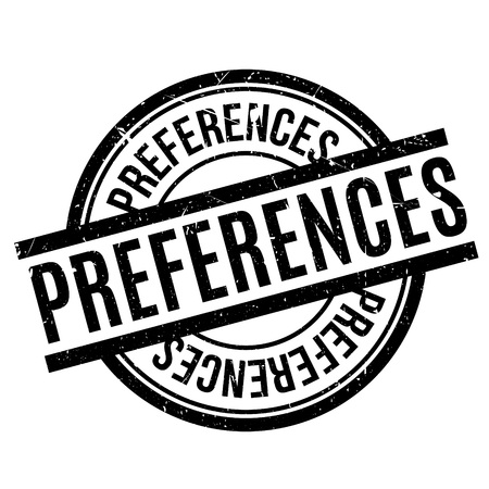Preferences rubber stamp