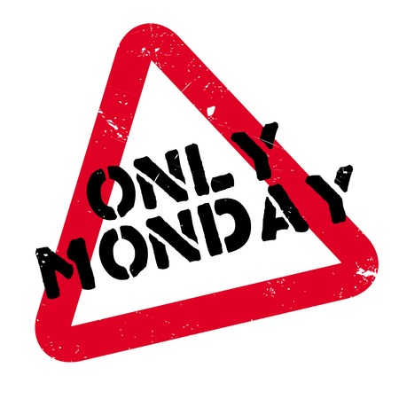 Only Monday rubber stamp Illustration