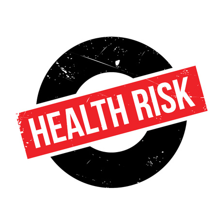 Health Risk rubber stamp Illustration