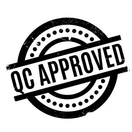 Qc Approved rubber stamp