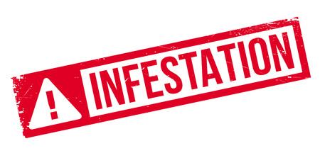 Infestation rubber stamp Ilustração