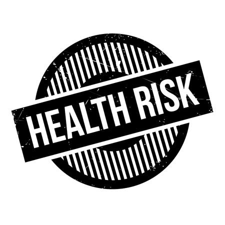 Health Risk rubber stamp Illustration