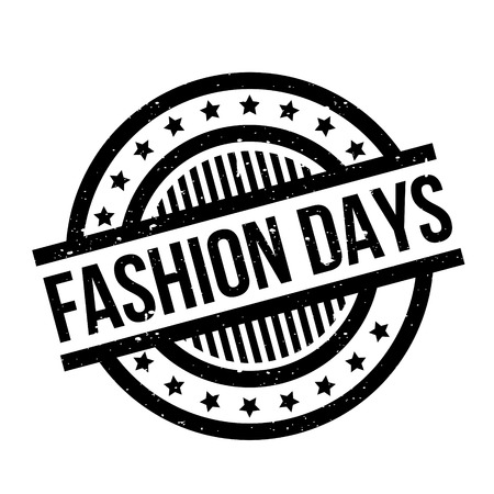 Fashion Days rubber stamp. Grunge design with dust scratches. Effects can be easily removed for a clean, crisp look. Color is easily changed.