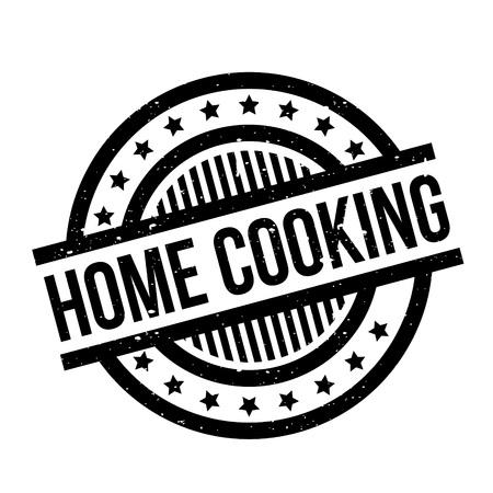 Sello de goma de cocina casera. Diseño de Grunge con rayas de polvo. Los efectos se pueden eliminar fácilmente para una apariencia limpia y nítida. El color se cambia fácilmente. Ilustración de vector