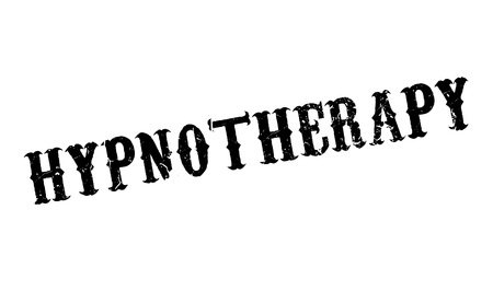 Hypnotherapy rubber stamp. Grunge design with dust scratches. Effects can be easily removed for a clean, crisp look. Color is easily changed. Stock Vector - 77445328
