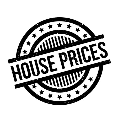 House Prices rubber stamp. Grunge design with dust scratches. Effects can be easily removed for a clean, crisp look. Color is easily changed.