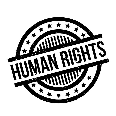 civil rights: Human Rights rubber stamp. Grunge design with dust scratches. Effects can be easily removed for a clean, crisp look. Color is easily changed.