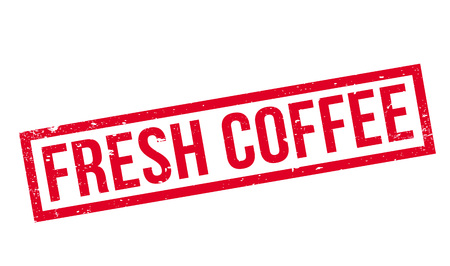 Fresh Coffee rubber stamp. Grunge design with dust scratches. Effects can be easily removed for a clean, crisp look. Color is easily changed.