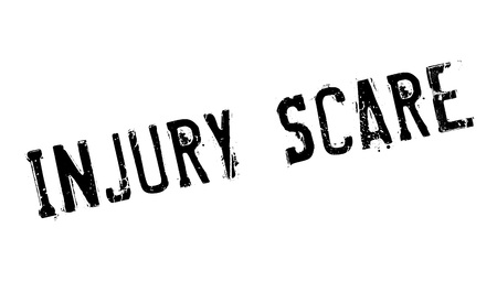 Injury Scare rubber stamp
