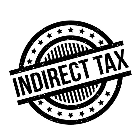 Indirect Tax rubber stamp. Grunge design with dust scratches. Effects can be easily removed for a clean, crisp look. Color is easily changed. Illustration