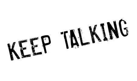 distract: Keep Talking rubber stamp Illustration