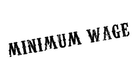 Minimum Wage rubber stamp Imagens - 77498624