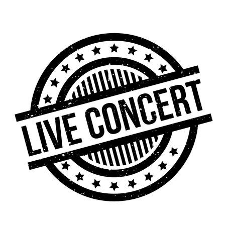 Live Concert rubber stamp Illustration