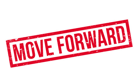 Move Forward rubber stamp