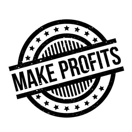 Make Profits rubber stamp Illustration