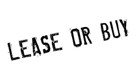 Lease Or Buy rubber stamp