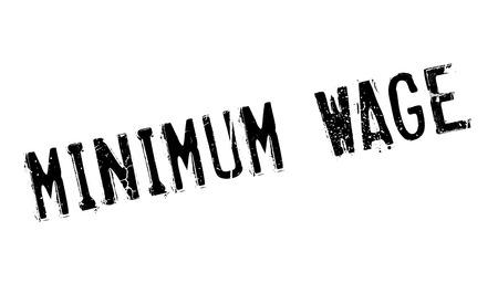 Minimum Wage rubber stamp Banco de Imagens - 77571118