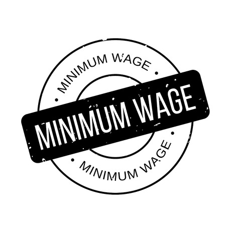 Minimum Wage rubber stamp Imagens - 77498681