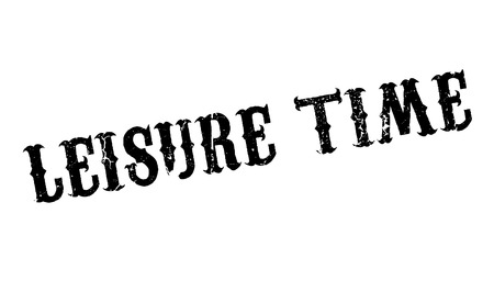 Leisure Time rubber stamp Stock Photo