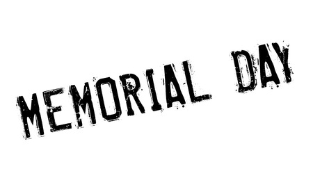 commemoration day: Memorial Day rubber stamp