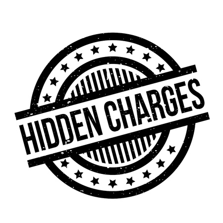excess: Hidden Charges rubber stamp Illustration