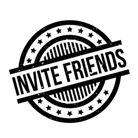 persuade: Invite Friends rubber stamp