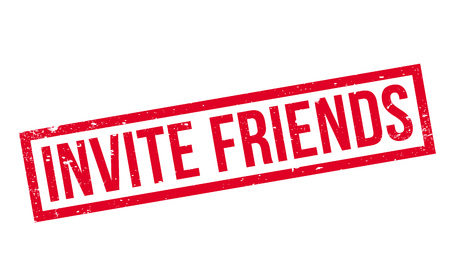 Invite Friends rubber stamp