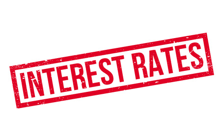 borrowing money: Interest Rates rubber stamp
