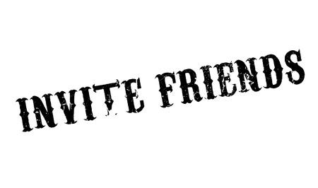 Invite Friends rubber stamp