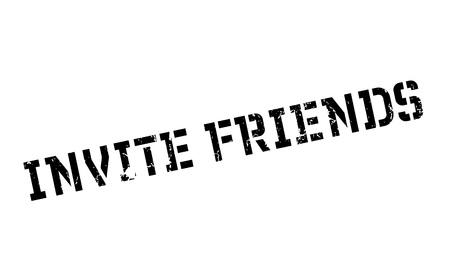 Invite Friends rubber stamp Stock Vector - 77713982