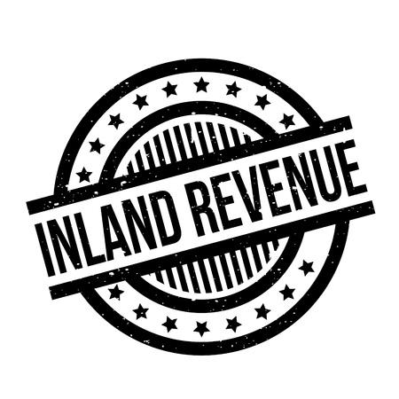 Inland Revenue rubber stamp Illustration