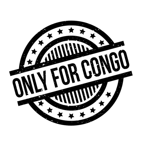 Only For Congo rubber stamp