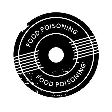 contamination: Food Poisoning rubber stamp