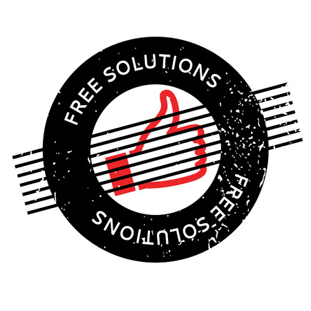 complimentary: Free Solutions rubber stamp Illustration