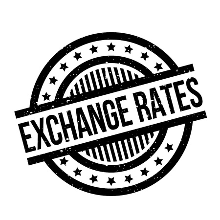 Exchange Rates rubber stamp