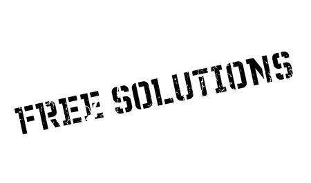 Free Solutions rubber stamp Ilustração