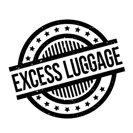 excess: Excess Luggage rubber stamp Illustration