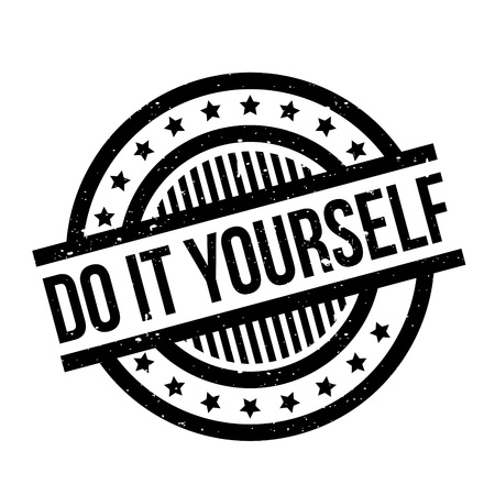 do it yourself: Do It Yourself rubber stamp Illustration