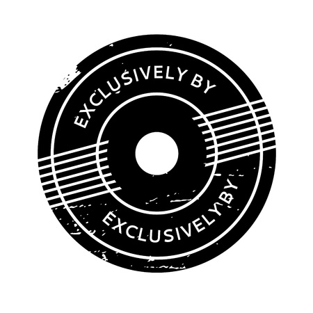 exclusively: Exclusively By rubber stamp Illustration