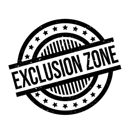 Exclusion Zone rubber stamp Stock Vector - 77622219