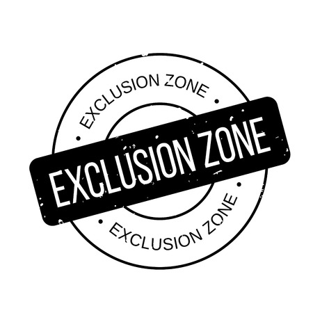 Exclusion Zone rubber stamp