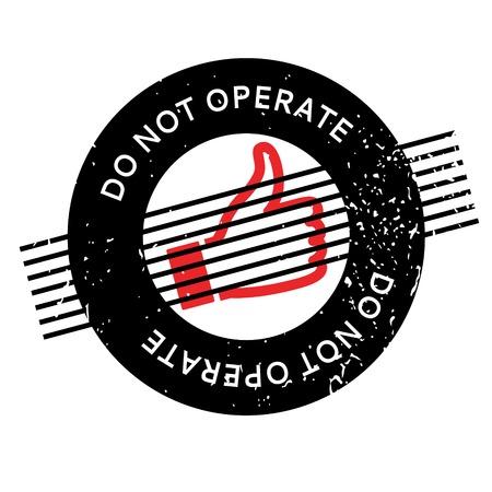no correr: No utilice el sello de goma