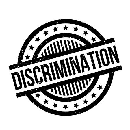 racism: Discrimination rubber stamp