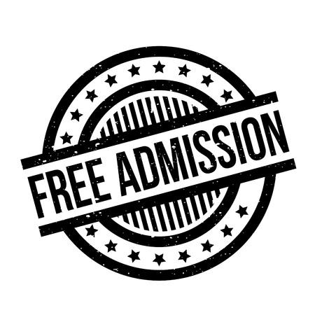 no entrance: Free Admission rubber stamp Illustration