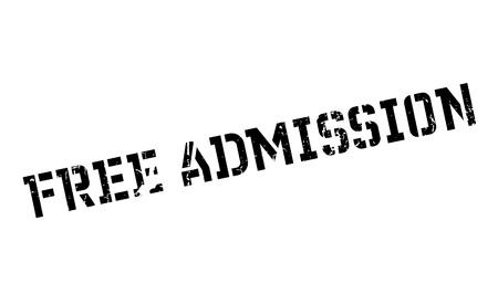 admission: Free Admission rubber stamp Illustration