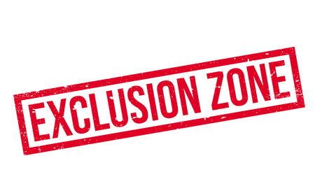 Exclusion Zone rubber stamp Stock Vector - 77622539