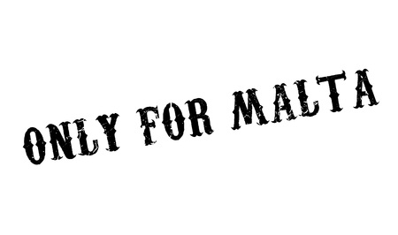 corsica: Only For Malta rubber stamp